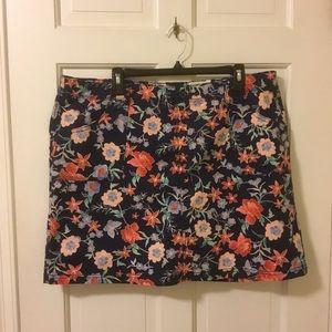 Floral Skort Skirt Plus Size 20